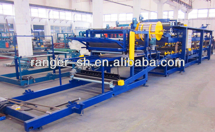 High quality eps foam sandwich panel /eps block moulding roll forming machine for wall and roof panel