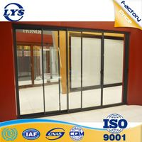 Economic price competitive performance wardrobe aluminium glass door designs for safety