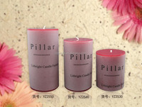 2015 home decoration pillar candles