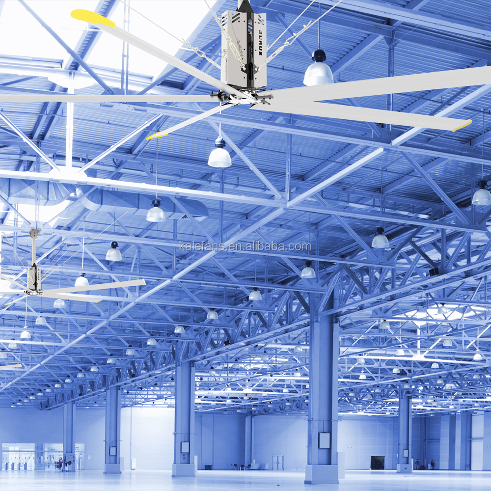 Best imported HVLS ceiling fans manufacturers in Shanghai for workshop warehouse