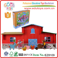 New Design Promotional Children Role Playing Farm Set Educational Wooden Game Toys for Kids