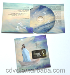 Custom Music Album CD Record Replication in 3 Panel Cardboard Wallet Package