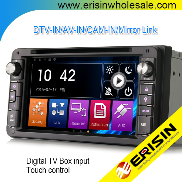 "Erisin ES6903K 7"" Toyota Universal Car DVD Player GPS with Radio MP3 BT"