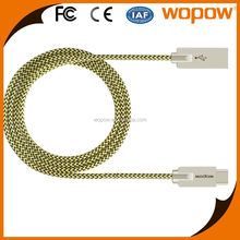 WOPOW braided cable usb3.1 type c cable,usb type c 3.1 cable,usb c type cable for mobiles
