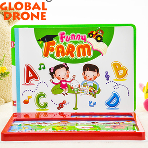 Funny Item!Happy Farm Musical Electronic Toy Activity / English Speaking Book Early Educational Screen Touch toys for Kid 2018