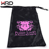 Wholesale promotional high quality hair packaging satin bag
