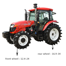 farm machinery 1304 130hp 4WD farm tractors with Multiple tire sizes