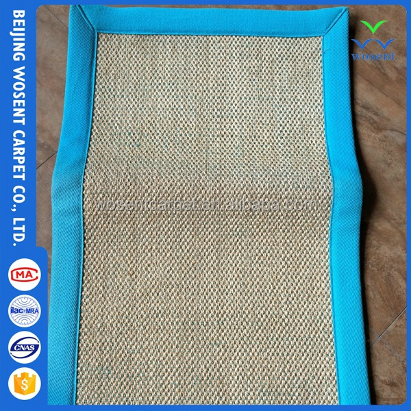 Wholesale designer sisal fabric home blanket picnic carpet