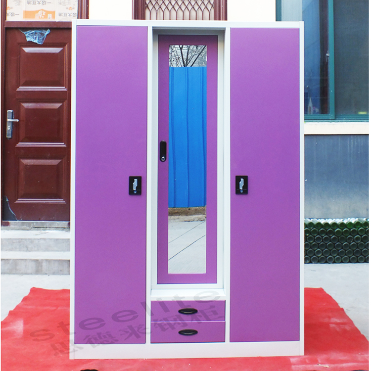 Steel clothes wardrobe storage cabinets indian bedroom for Bedroom cabinet designs india