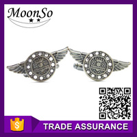 fashionable angel wings metal copper cuff link for men women KC2185 MOONSO