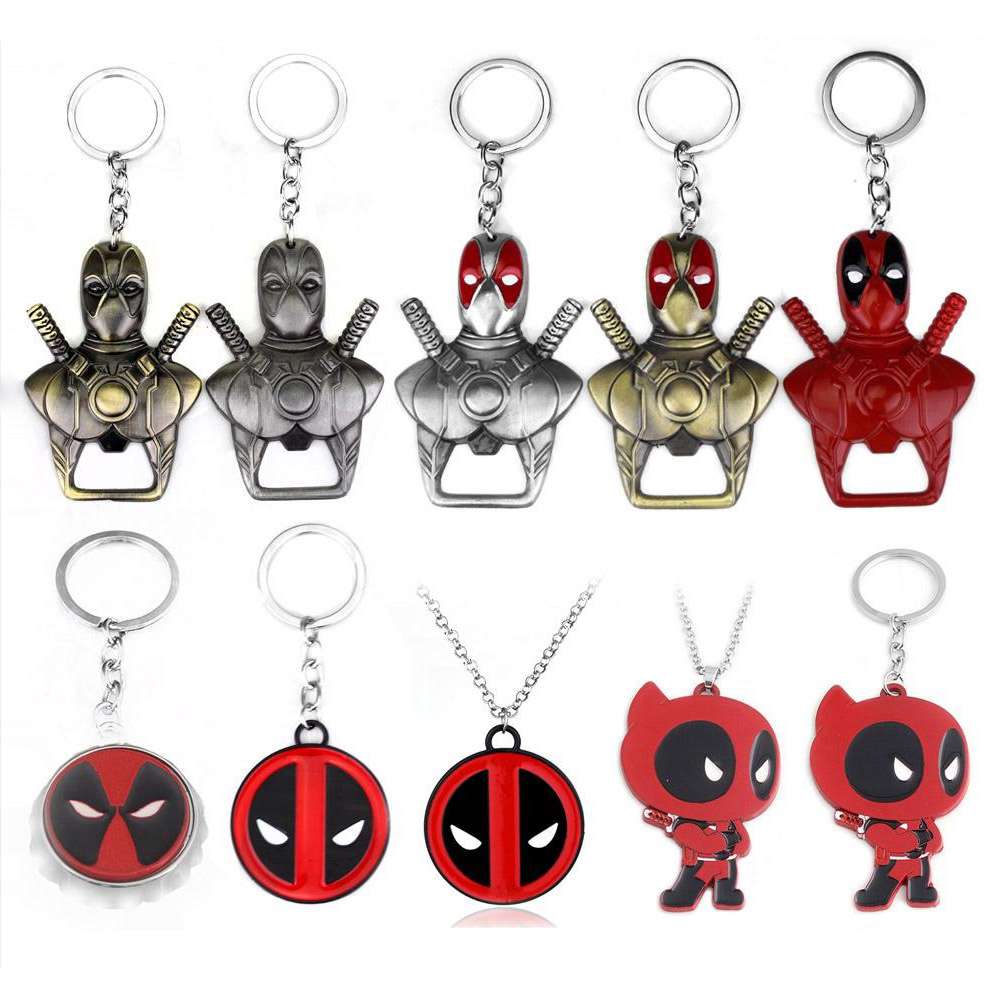 custom metal Deadpool marvelous Superhero llaveros suppliers pop marvel bottle opener keychain avengers key chain