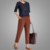 Hot sale modern linen pants loose harem pants women ninth pants trousers