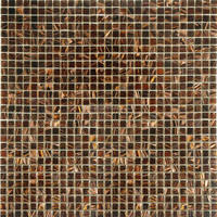 300x300mm brown glass mosaic swimming pool edge tile