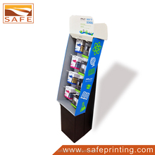 Custom Supermarket Retail Store Cardboard Floor Hook Display for Promotion