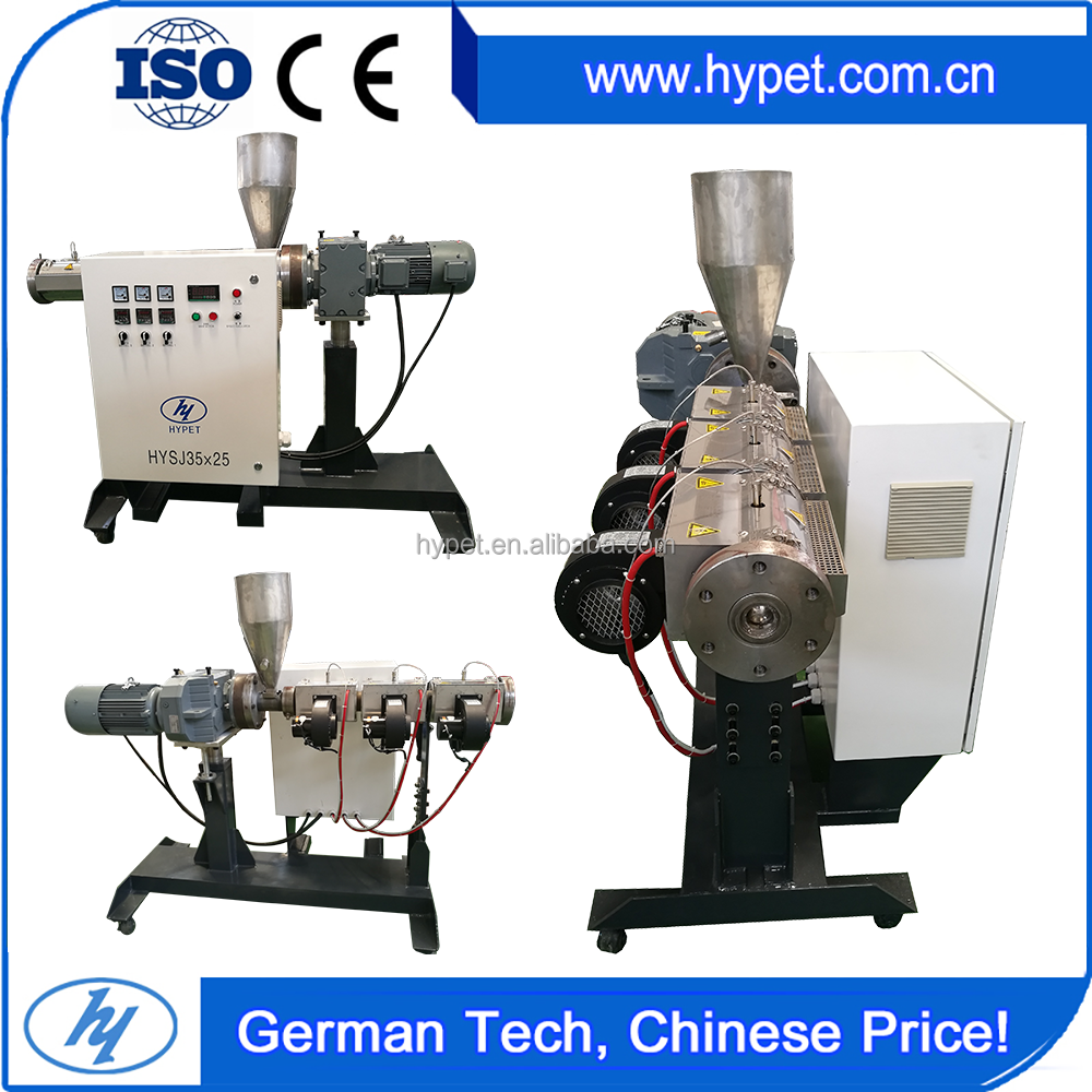 HYPET Factory Supply Mini Small Single Screw / Laboratory Plastic Extruder Machine