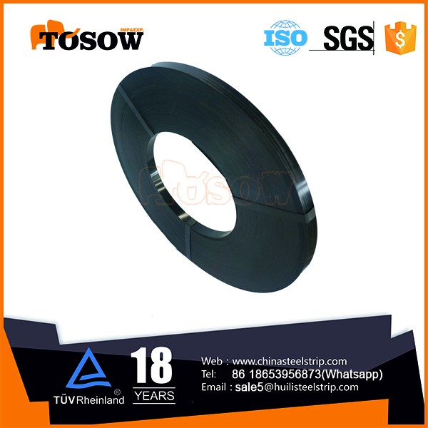 high quality black coating pack belt/strap