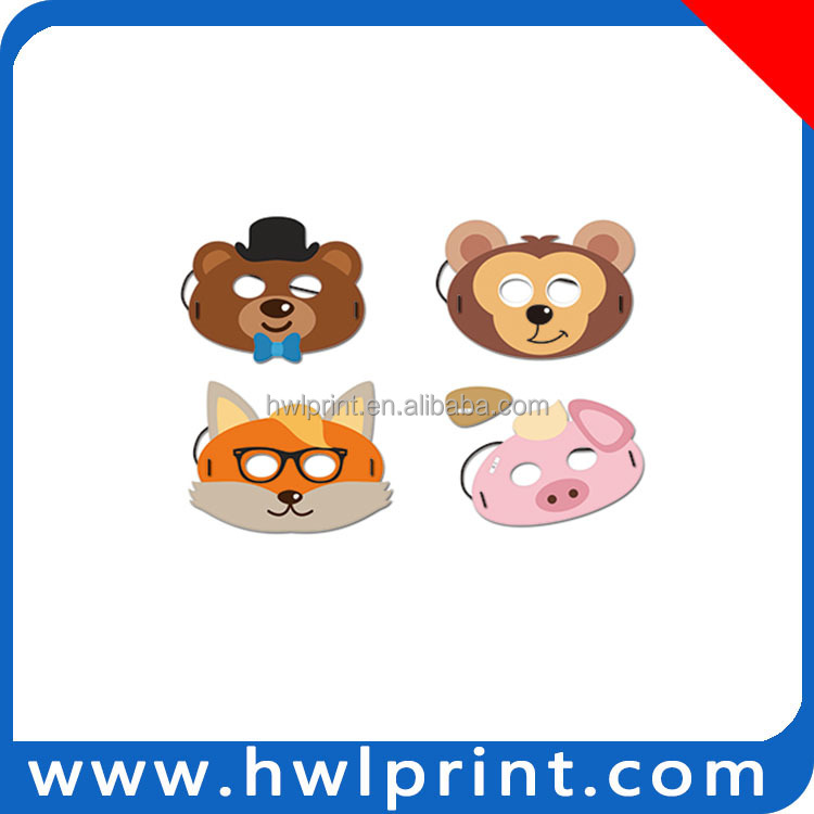 handmade paper craft toy animal head mask diy animal head masks for party
