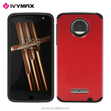 IVYMAX Cell phone accessories cell phone combo case for Moto Z force droid edition