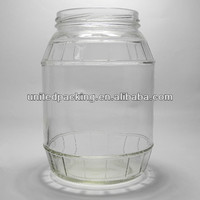 1000ml larger clear glass food storage jar