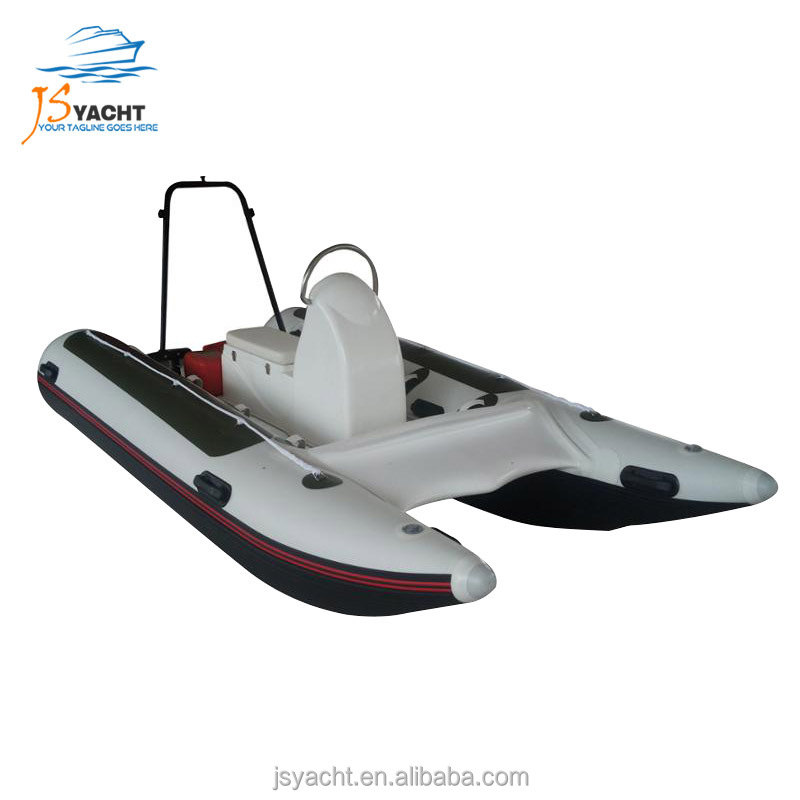 3.8m PVC/Hypalon catamaran inflatable speed cataraft boats for sale