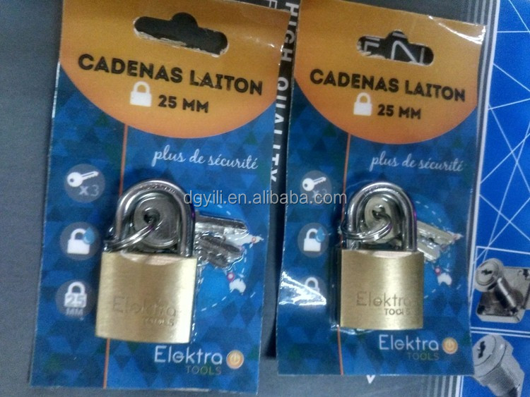 High polished Brass padlock square pad locks /brass padlock wholesaler