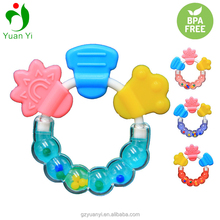 Funny BPA Free Baby Infant Teether Rattles and Silicone Teethers Toy
