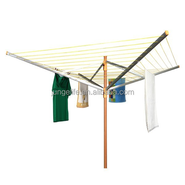 Multi-position outdoor aluminium folding clothes drying racks, rotary clothes airer
