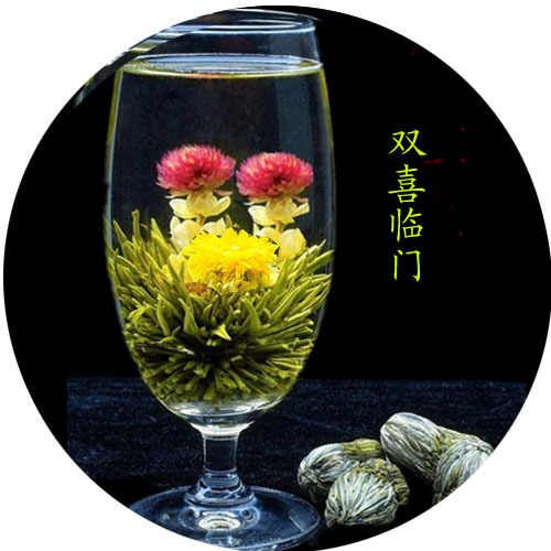 China Famous gift tea Beautiful blooming tea, flowering tea ball, Chinese Handcrafted Blooming flower tea