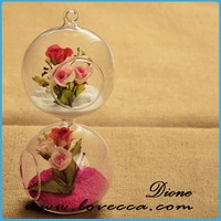 """Sha-simple design competitive price home decoration pieces hanging glass globe orb"
