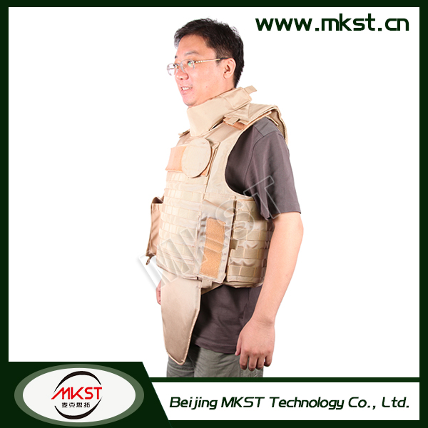 MKST648 Series Full Protection Personnel Human Body Armor , Bullet Proof Vest Iiia , Bullet Proof Vest Cover