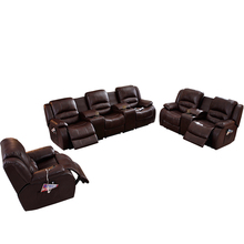 Modern Recling Reclining Sectional Living Room 3 Seat Cover 7 Seater Leather French <strong>Furniture</strong> 2 1 Automatic Recliner Sofa Set