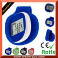 Small Size 3D Silent Pedometer with Silicone Jacket Clip or Lanyard Walking Pedometer