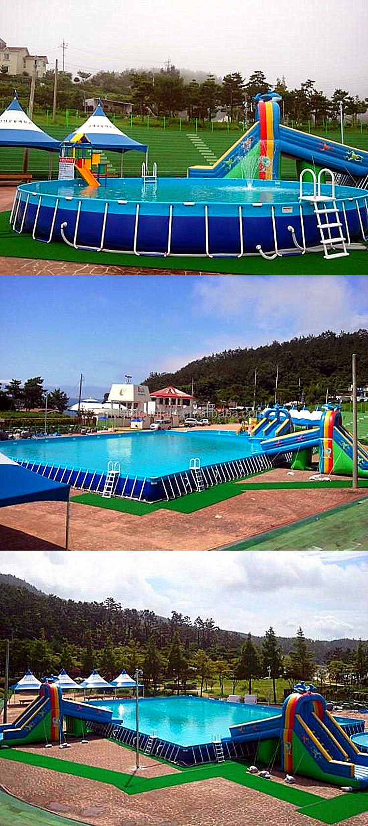China manufacturer above ground plastic metal frame sex for Above ground swimming pool manufacturers