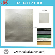 silver pvc imitaion bag leather fake leather for handbags