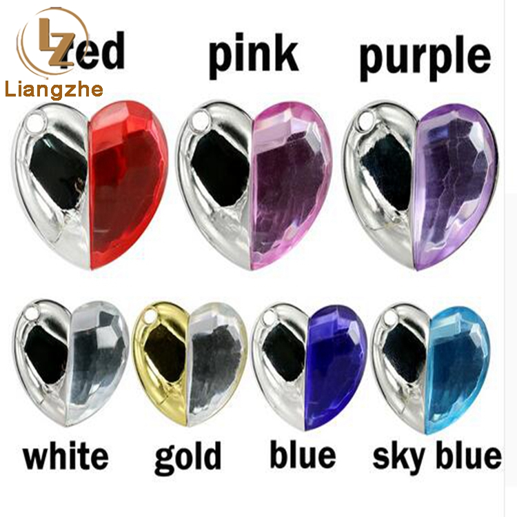 2017 Fashion Jewelry Crystal Heart Flash Pen Drive/Memory Stick 8GB 16GB 32GB Holiday Gifts