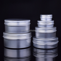50ml 60ml 80ml 100ml 150ml aluminum cosmetic cream jar for sale