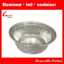 Household Use Disposable Small Round Aluminium Foil Cake Container With Lid
