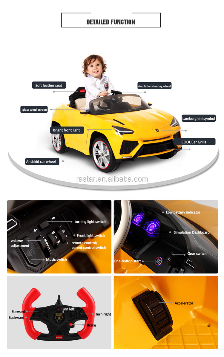 Rastar christmas gift children toy electric ride on cars for kids