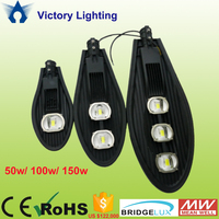 Outdoor standing 50w 100w 150w led street light ,meanwell driver Bridgelux led road lamp