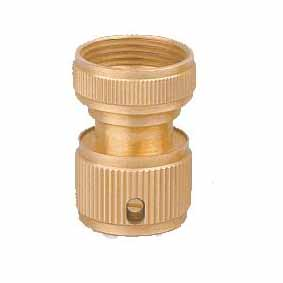 "3/4""female brass quick hose connector with water stop(FL8112)"