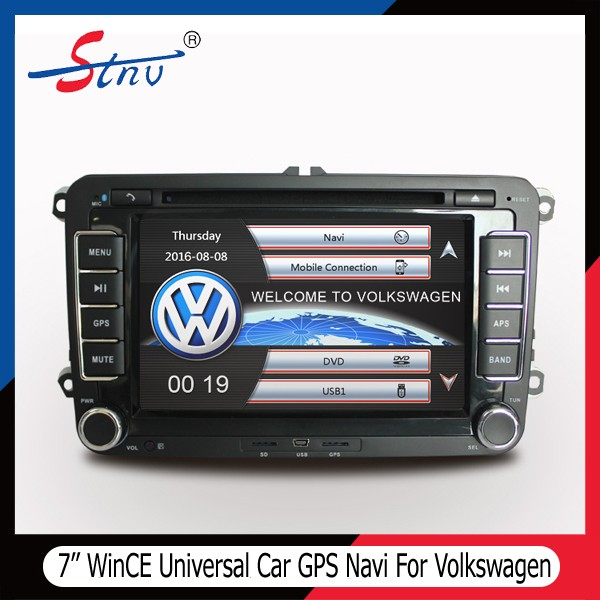 7 Inch VW GPS System With Free Map/DVR/Touch Screen/Navigation/SWC