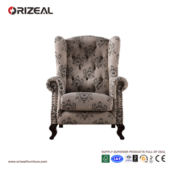 Orizeal Tryndamere 19TH C. English Wing Chair(OZ-WC-006)