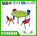 SF-12C Colorful Daycare Kids Furniture Wooden Plastic Children Table and Chairs Kindergarten Combination Dining Table