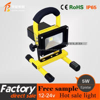 Outdoor waterproof Charging project-light lamp 5W LED rechargeable flood light lamp, led work light, camping light