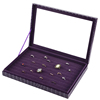 Mall Desktop Attractive Stone Pattern PU Leather Jewelry Gift Display Ring Box