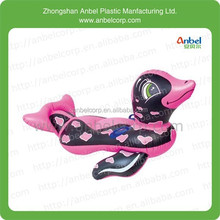 cute fashion pvc inflatable duck animal water rider for children