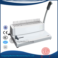 YG-S308 comb binder manual 25 comb ring Comb Binding Machine