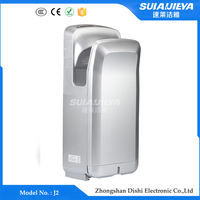 abs plastic wall mounted jet air hand dryer with DC brushless motor