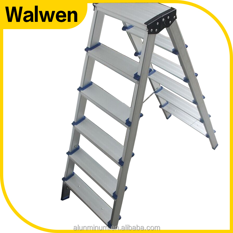 Home used 2 to 6 steps aluminum indoor portable folding step ladder chair