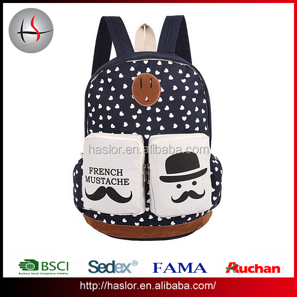 High Quality Popular Teen School Backpack Waxed Canvas Backpack Wholesale